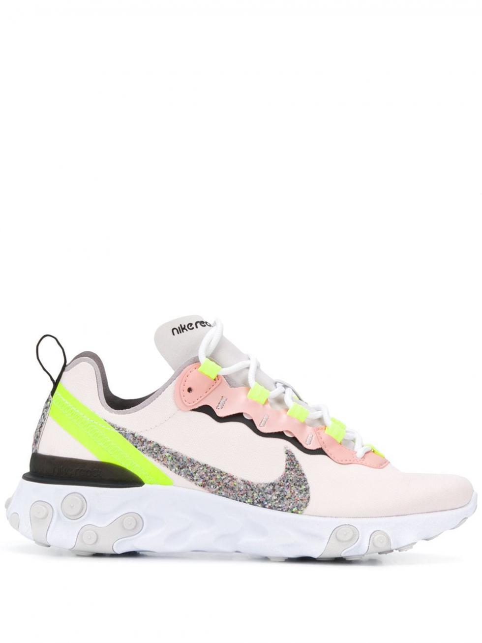 Femme Baskets React Element 55 Premium Light Soft Pink   Baskets Nike - Angelic Claws